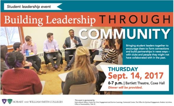 building leadership through community