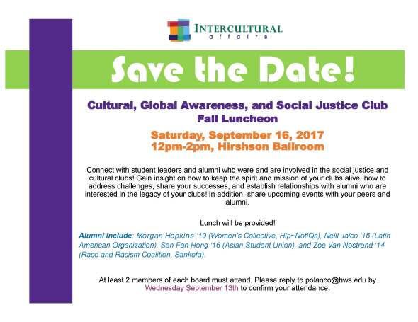 CGASJ Club Fall Luncheon SAVE THE DATE 2017- STUDENT VERSION