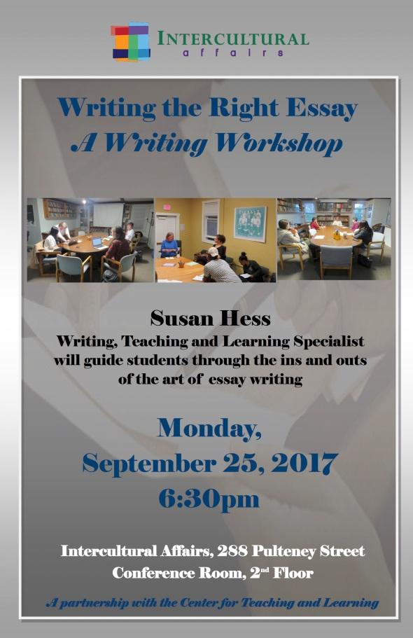 EssayApplicationWorkshopwithSHessF2017