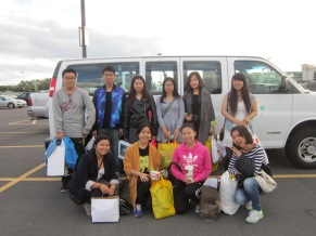 After Mall Trip--Students in Van 2