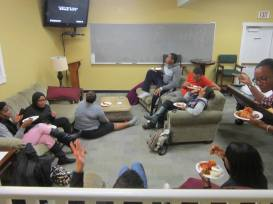 "Students watching ""Scandal"""
