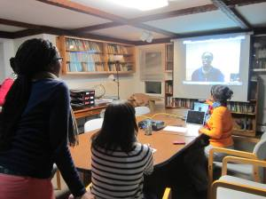 Skype with Cecilia Capers F2013