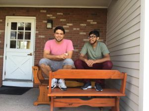 Benny Calderon Ho '19 and Aleem Mohammed '19 enjoying the beautiful summer weather on the IC porch.