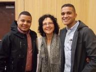 Dolian Garo H'15, Professor Alejandra Molina, Jericsson Pichardo H'15