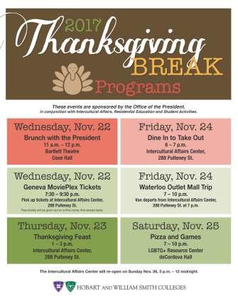 Thanksgiving Break F2017