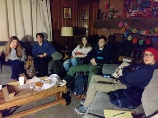 Students enjoying the Italian film screening
