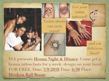 ISA Henna Night S2018